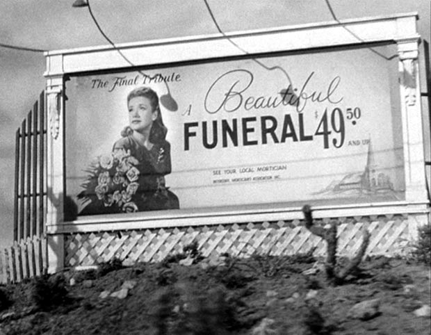 Vintage Billboard Beautiful Funeral $49.50 1940s