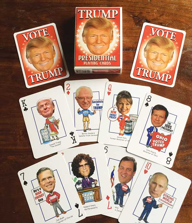 Trump Playing Cards ~~18  Best Christmas Gifts for Trump Lovers and Haters