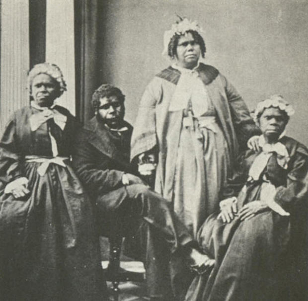 The last full-blooded Tasmanian aborigines taken in the 1860's.