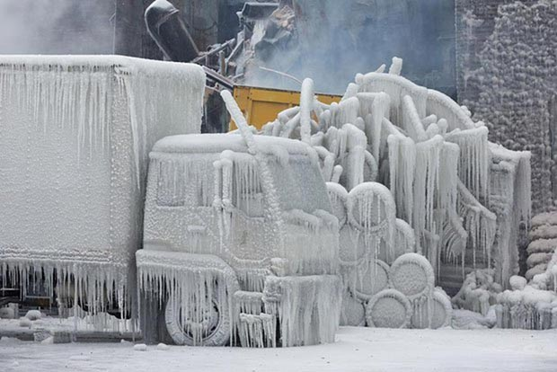 Industrial size ice storm