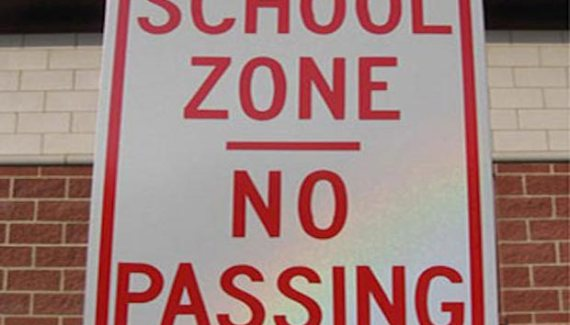Funny Signs ~ school zone no passing ~ fail