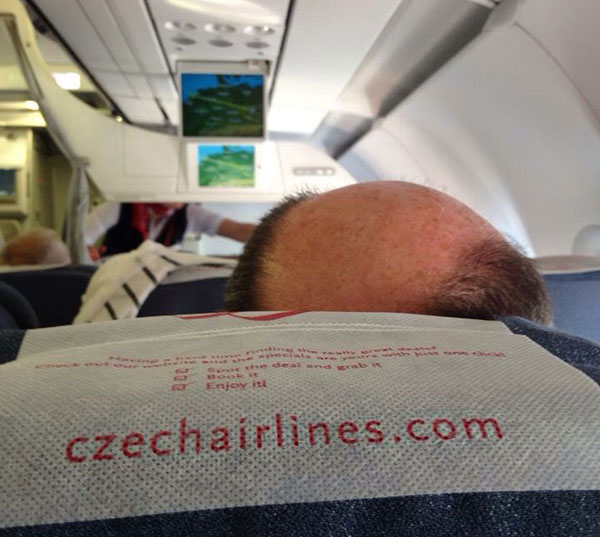 33 Funny Pics and Memes of the Day ~ Czech airline hairlines bald