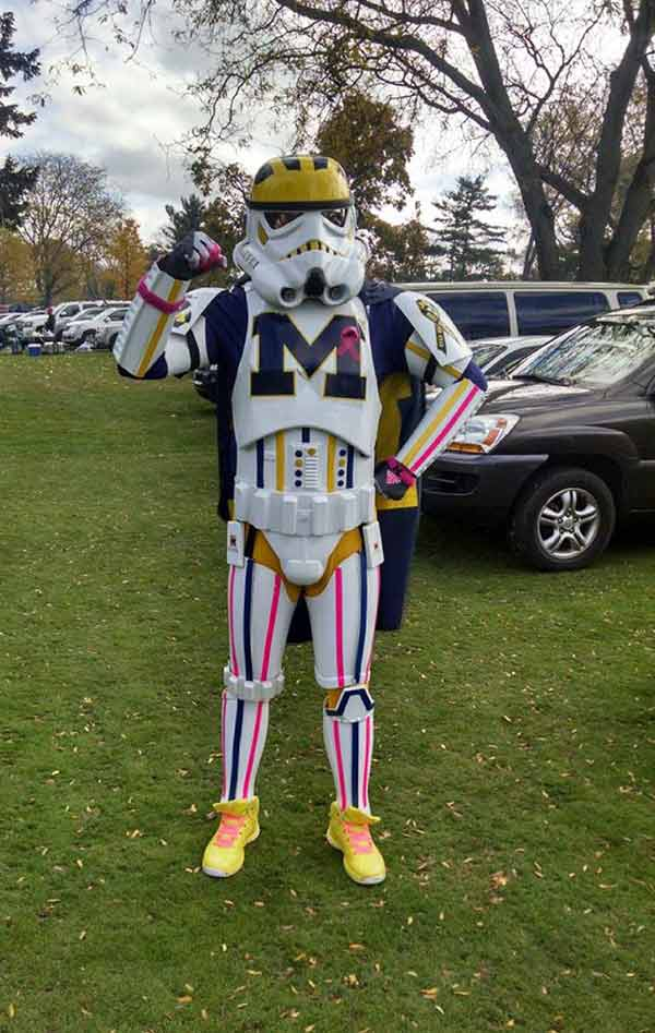 33 Funny Pics and Memes of the Day ~ University of Michigan stormtrooper fan