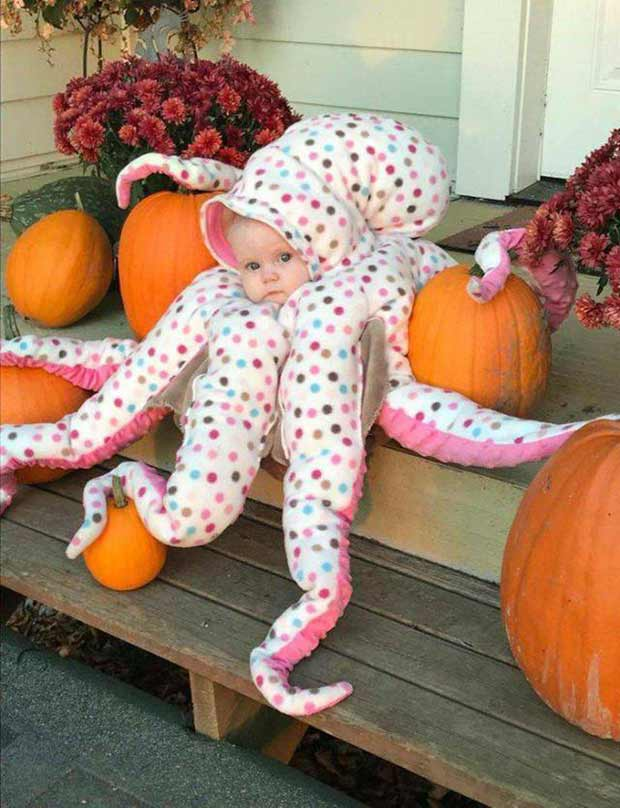 33 Funny Pics and Memes, and Random Humor ~ Best baby halloween costume octopus
