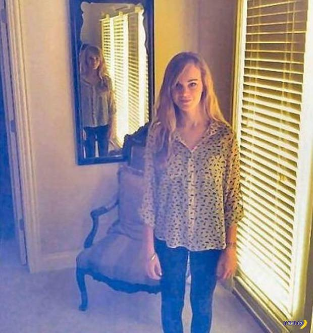 Creepy pictures girl in mirror ~ 33 Funny Pics and Memes best