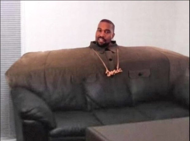 Kanye Couch ~ 33 Funny Pics and Memes, Random Humor