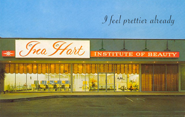Vintage postcard, Ina Hart Institue of Beauty ~ ~ 33 Funny Pics and Memes, and Random Humor