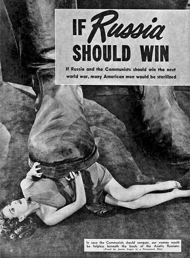 33 Funny Pics and Memes, and Random Humor ~ 1950s Propaganda Poster ~ If Russia should win