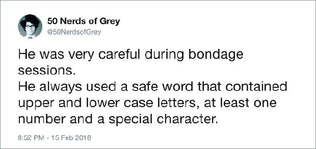 23 Funny Tweets from 50 Nerds of Grey ~ parody humor, sarcasm