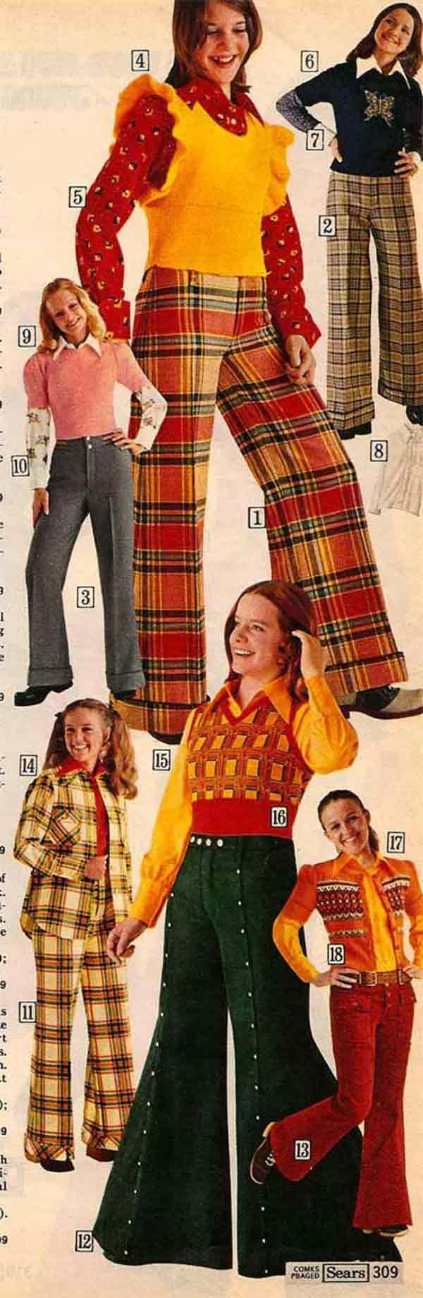35 Funny Memes and Random Pics to Boost Your Humor Level... vintage ad, Sears catalogue, 1970s women fashions, bell bottoms