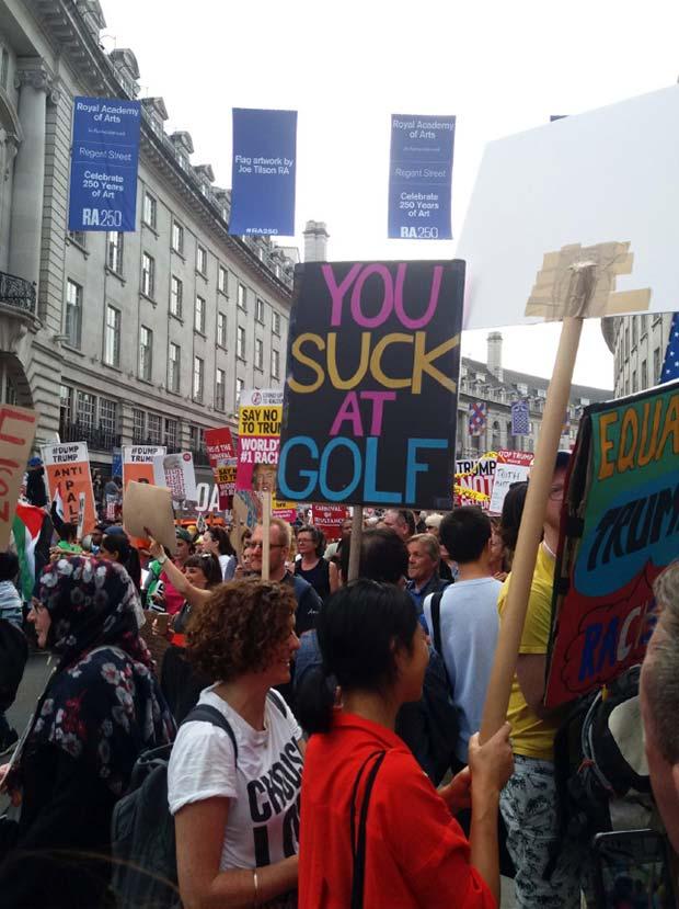 45 Funny Anti-Trump Protest Signs
