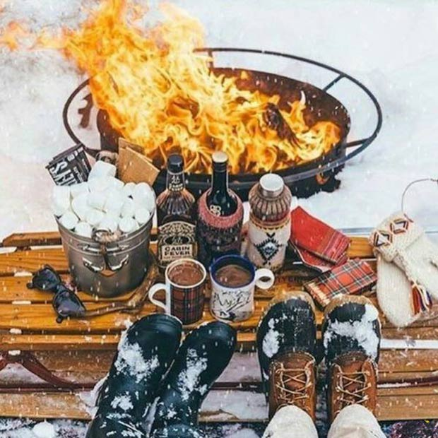 33 Best Memes and Funny Pics Laced with Humor! ~ romantic snow scene by the fire