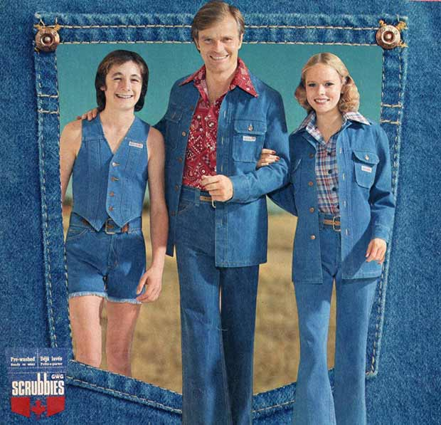 33 Best Memes and Funny Pics Laced with Humor! ~ vintage ads, fashion 1970s denim leisure suits scrubbiest