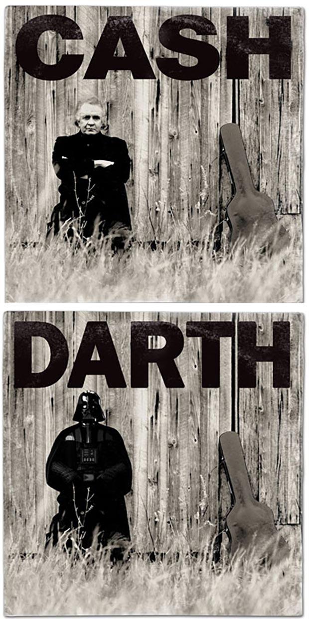 28 Star Wars ~ Classic Album Covers Mash-ups That ROCK! ~ Johnny Cash Darth Vader