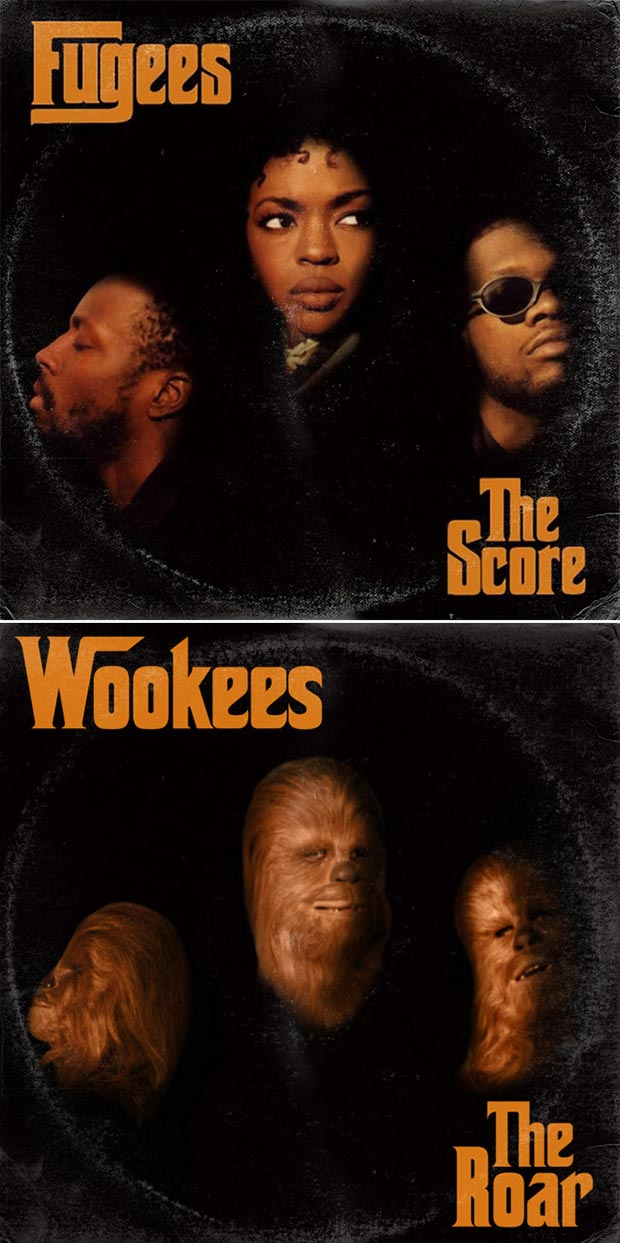 28 Star Wars ~ Classic Album Covers Mash-upsThat ROCK! ~ Fugees Wookees the Score