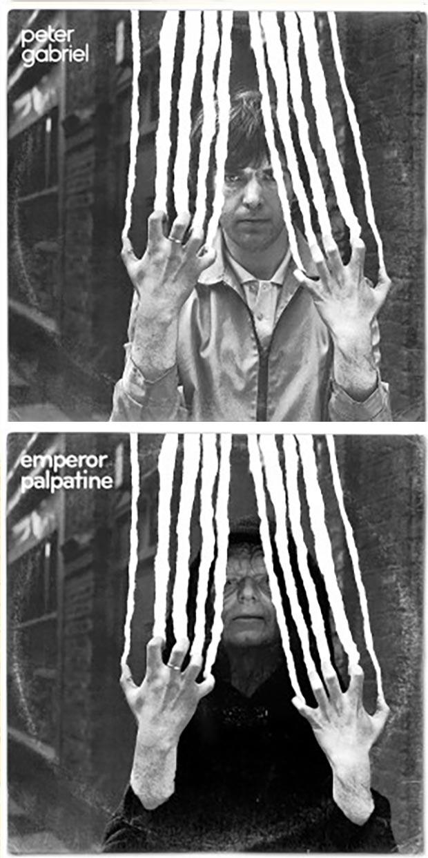 28 Star Wars ~ Classic Album Covers Mash-ups That ROCK! ~ Peter Gabriel Emperor Palpatine