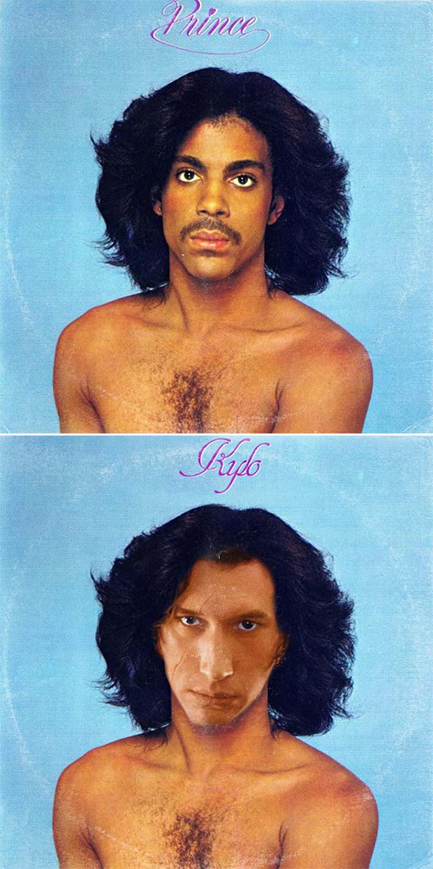 28 Star Wars ~ Classic Album Covers Mash-ups That ROCK! ~ Prince Kylo