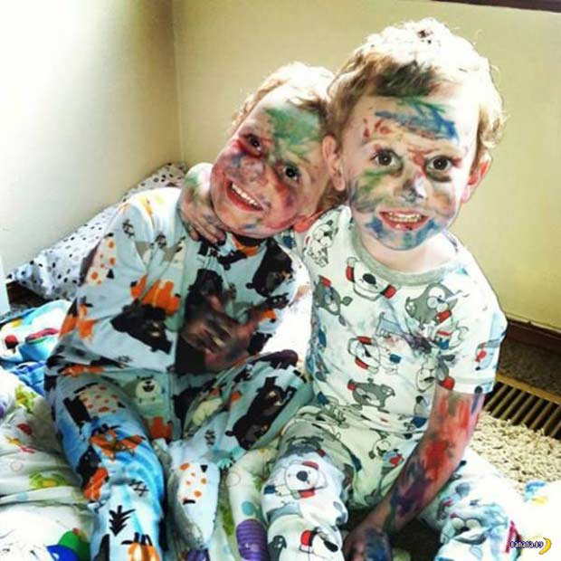 35 Funny Memes and Random Pics to Fuel Your Humor ~ cute brothers wild crazy kids markers face