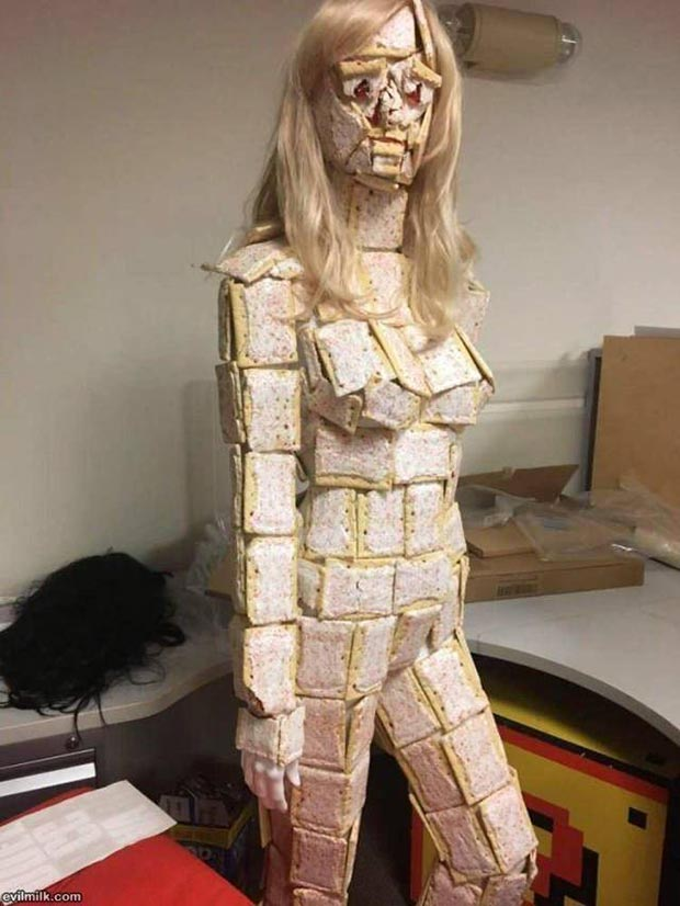 31 Funniest Memes and Pics Crazy Kooky and Comical ~ -woman covered n frosted pop tarts suit