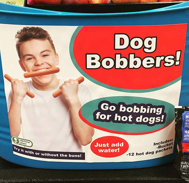 31 Hilarious Fake Toys Planted in Stores ~ hot dog bobbers