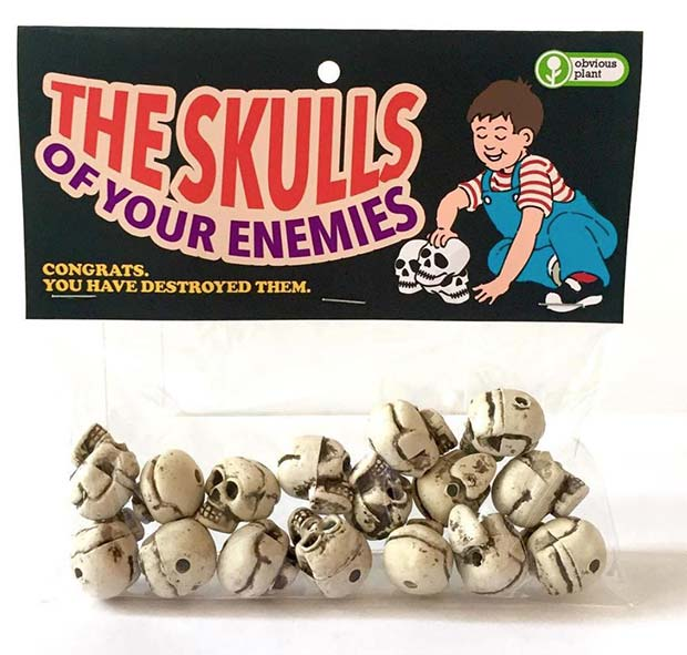 31 Hilarious Fake Toys Planted in Stores ~ skulls of your enemies