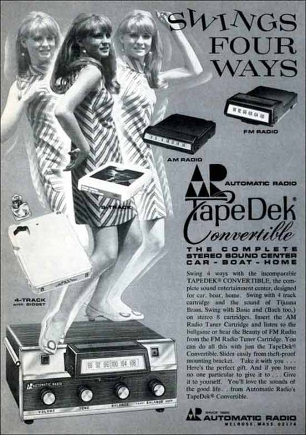 33 Funny Memes and Crazy Pics That'll Tickle Your Soul ~ vintage ad swings 8-track tape deck
