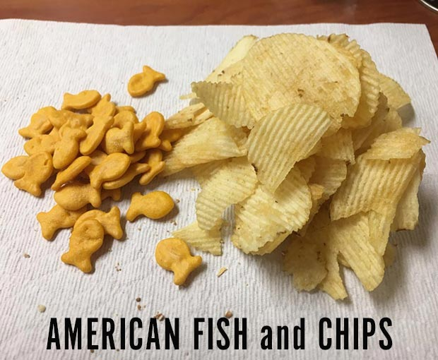 35 Funniest Memes and Random Pics That'll Twerk Your Humor ~ American fish and chips goldfish crackers potato chips