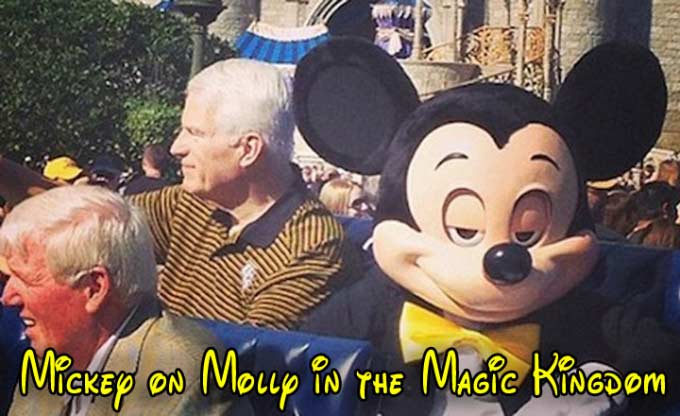 33 Funny Memes and Pics to Release Your Inner Humor ~ Mickey Mouse on Molly in the Magic Kingdom Disney