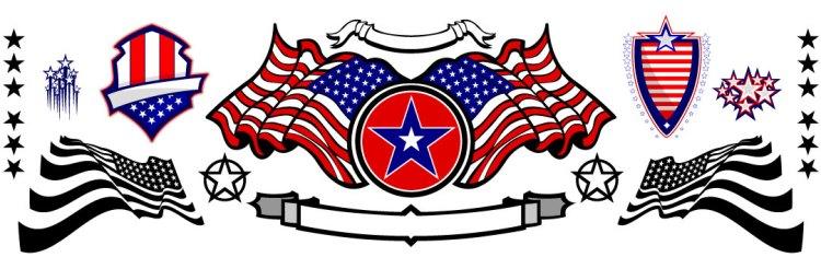 American Flag Vector Elements