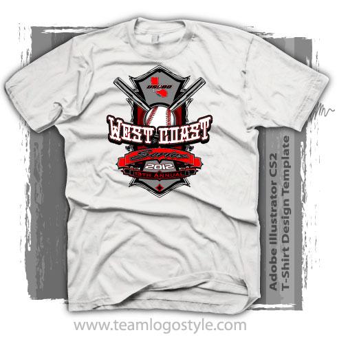 Baseball Shirt Design Template