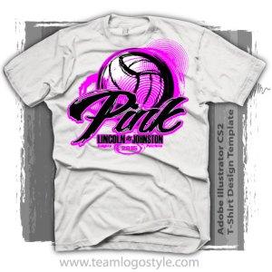 4b62f88c Volleyball Pink T-Shirt Design – Vector Design Template