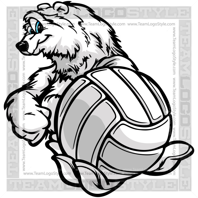 Winter Volleyball Clip Art