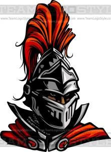 Vector Knight Head - Vector Clipart Knight