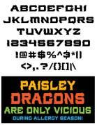 Gothic Font - Paisley Dragon - Glyphs