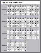 Paisley Dragon Font Keystroke Guide