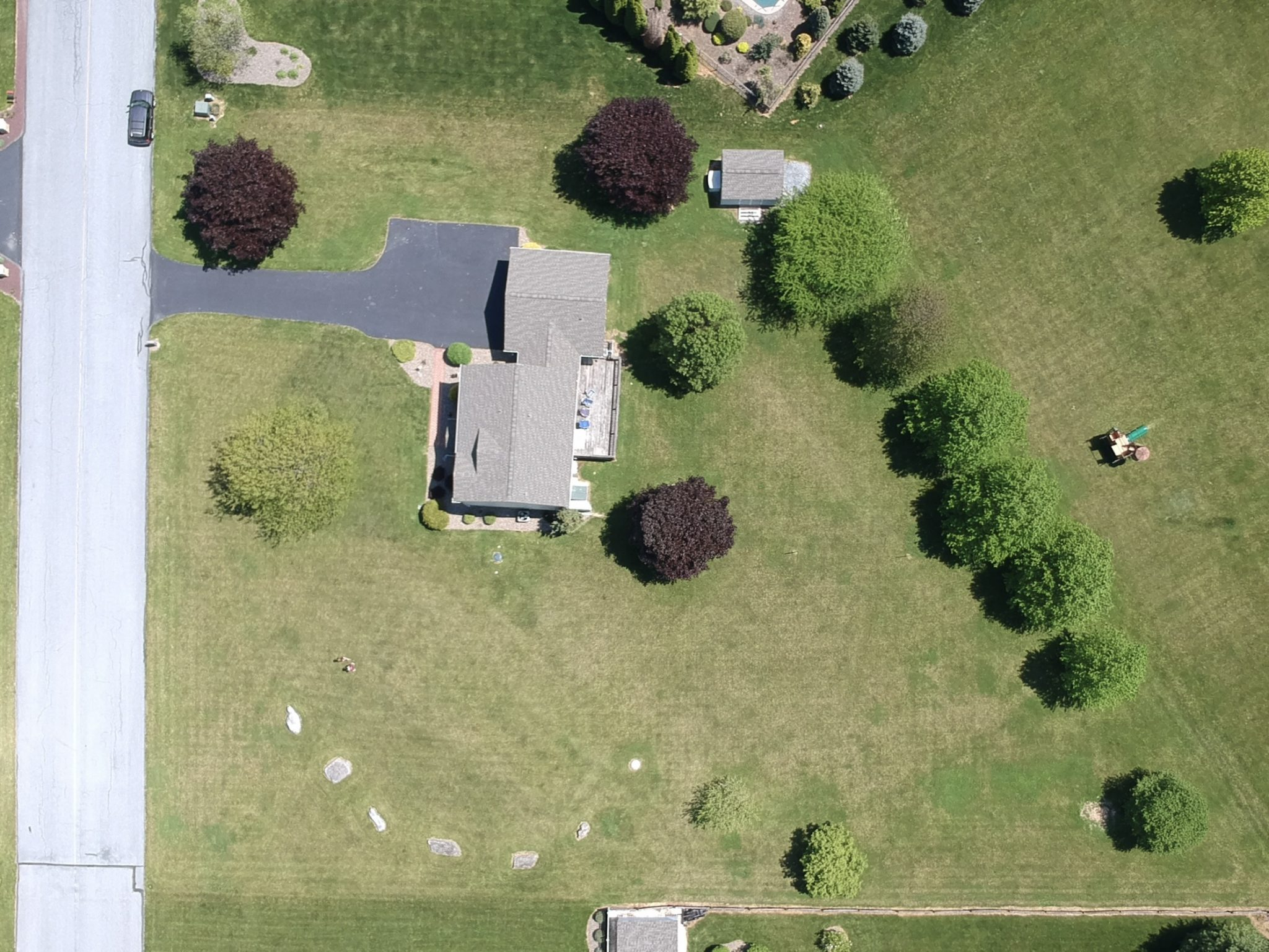 22 Norma Ln, Richland - Outside Overhead View