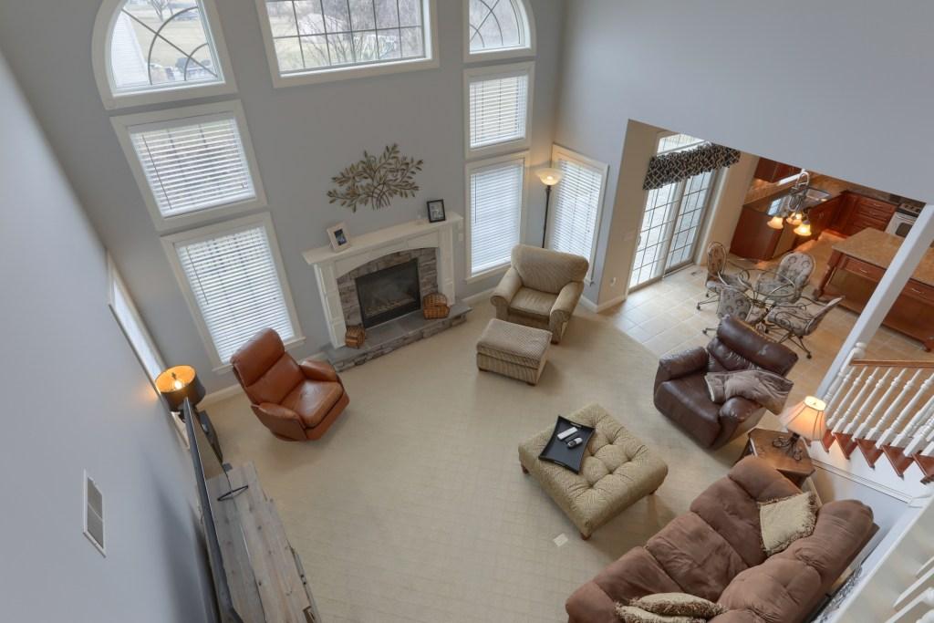 2000 mallard lane - view of living room from 2nd floor