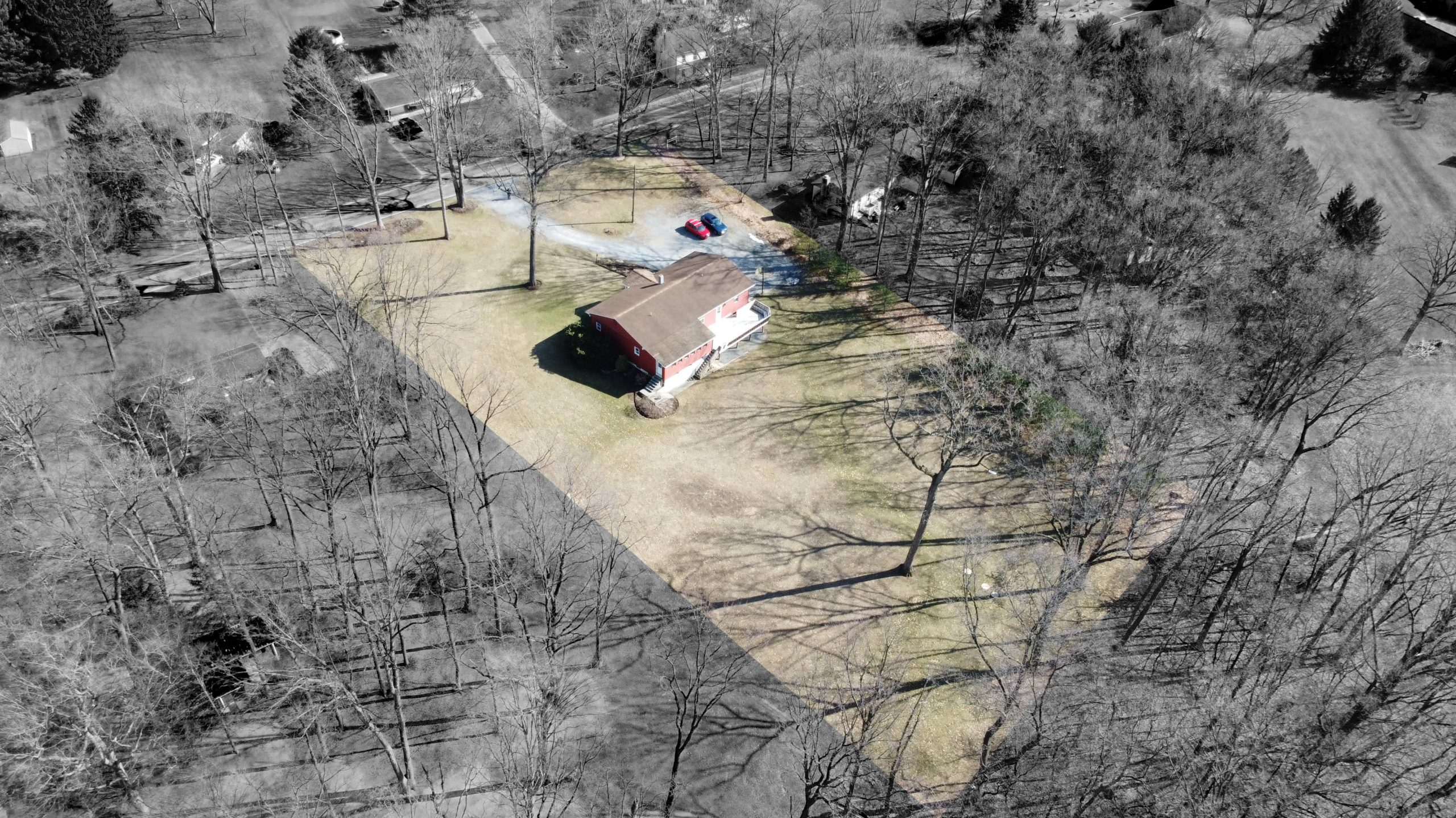 285 Strack Drive - Quiet Wooded Setting Aerial Shot 2