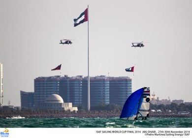 Airshow during the races in Abu Dhabi, in honor of 43 years of independent Abu Dhabi