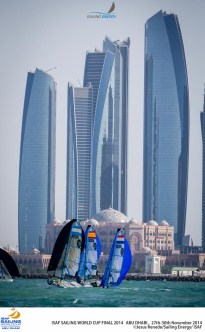 Some beautiful skyscrapers and the 2nd most expensive hotel in the world are the scenery of racing in Abu Dhabi.