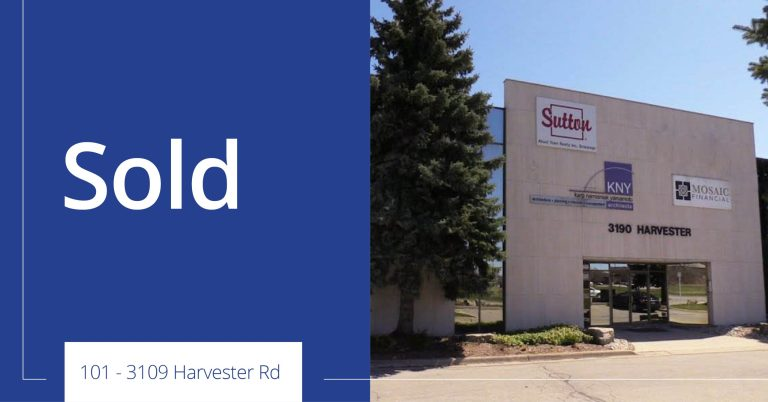 101 3190 Harvester Road - Sold - Colliers