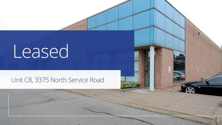 Unit C8, 3375 North Service Road, Burlington  - Leased
