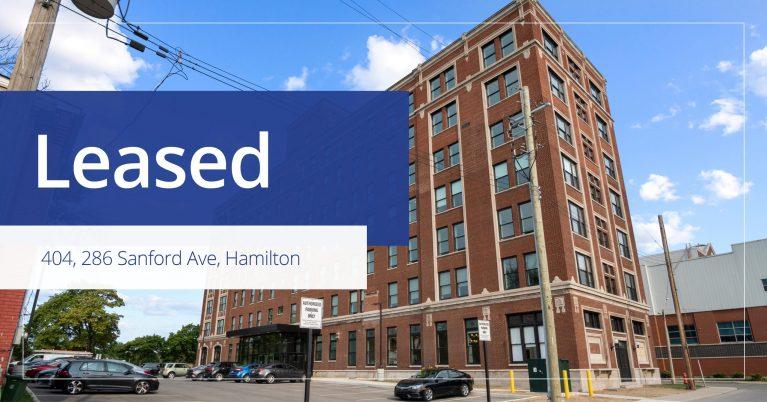 404, 286 Sanford Ave N, Hamilton - Leased