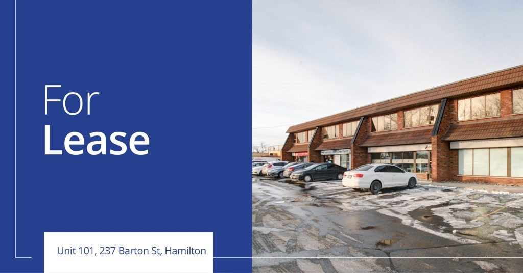 Unit 101 237 Barton Street - For Lease - Colliers