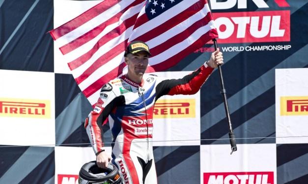 Podio para Hayden en Laguna Seca  con Van der Mark cuarto