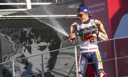 Marc Márquez conquista en el Circuit Ricardo Tormo el título de MotoGP