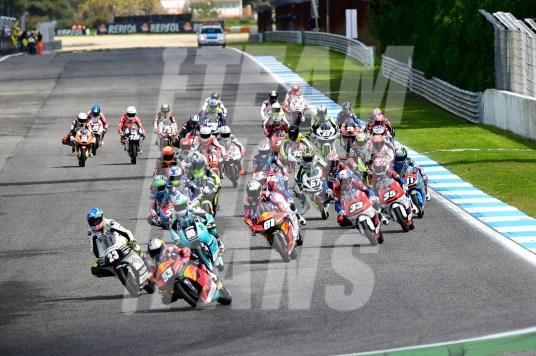 Salida Moto3, FIM CEV Repsol, #YD, @yiyodorta, teammotofans.com