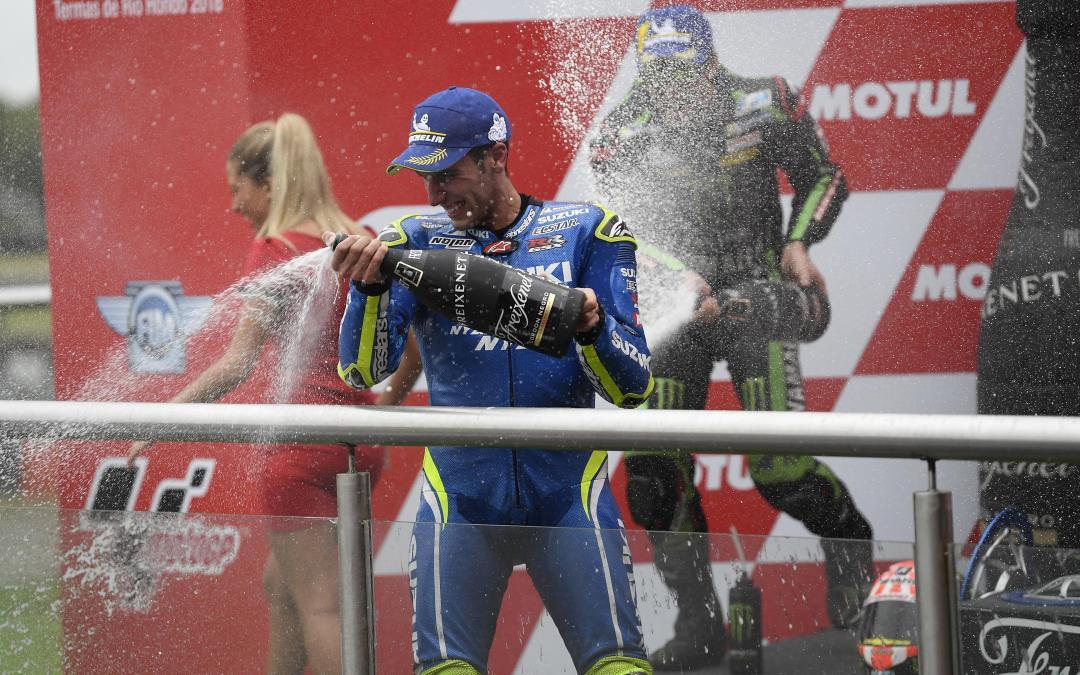 Álex Rins logra su primer podio en MotoGP con Suzuki