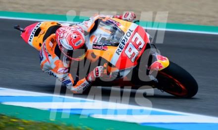 """Jerez: el Campéon del Mundo de MotoGP con """"las alas mojadas"""""""
