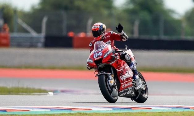 Dovizioso encabeza las hojas de horarios en la práctica libre del viernes en el GP de Argentina con el equipo Mission Winnow Ducati